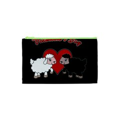 Valentines Day   Sheep  Cosmetic Bag (xs) by Valentinaart
