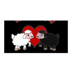 Valentines Day   Sheep  Satin Wrap by Valentinaart