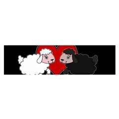 Valentines Day   Sheep  Satin Scarf (oblong) by Valentinaart