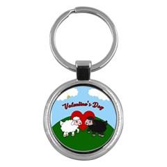 Valentines Day   Sheep  Key Chains (round)  by Valentinaart