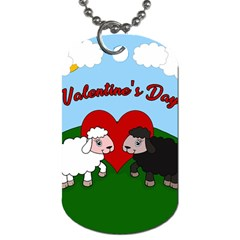 Valentines Day   Sheep  Dog Tag (two Sides) by Valentinaart