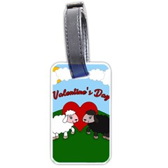 Valentines Day   Sheep  Luggage Tags (one Side)  by Valentinaart
