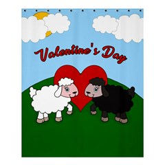 Valentines Day   Sheep  Shower Curtain 60  X 72  (medium)  by Valentinaart