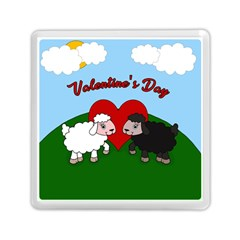 Valentines Day   Sheep  Memory Card Reader (square)  by Valentinaart