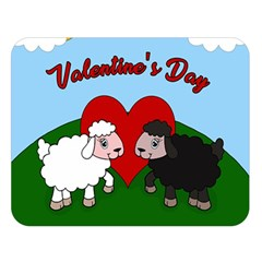 Valentines Day   Sheep  Double Sided Flano Blanket (large)  by Valentinaart