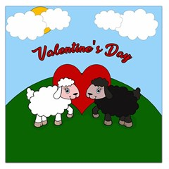 Valentines Day   Sheep  Large Satin Scarf (square) by Valentinaart