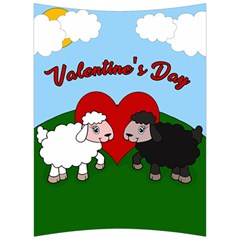 Valentines Day   Sheep  Back Support Cushion by Valentinaart