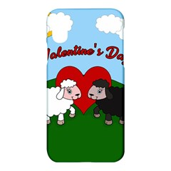 Valentines Day   Sheep  Apple Iphone X Hardshell Case by Valentinaart