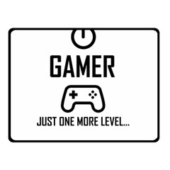Gamer Double Sided Fleece Blanket (small)  by Valentinaart