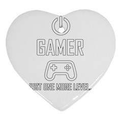 Gamer Ornament (heart) by Valentinaart