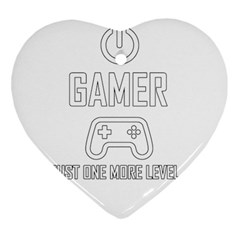Gamer Heart Ornament (two Sides) by Valentinaart