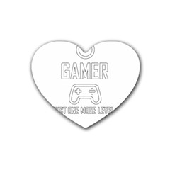 Gamer Heart Coaster (4 Pack)  by Valentinaart