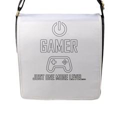 Gamer Flap Messenger Bag (l)  by Valentinaart