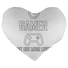Gamer Large 19  Premium Heart Shape Cushions by Valentinaart