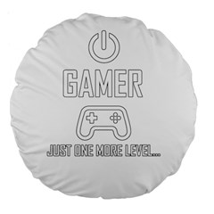 Gamer Large 18  Premium Flano Round Cushions by Valentinaart