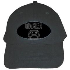 Gamer Black Cap by Valentinaart