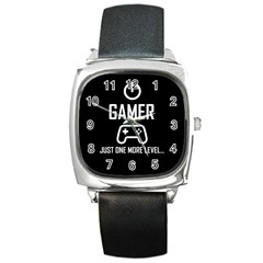 Gamer Square Metal Watch by Valentinaart