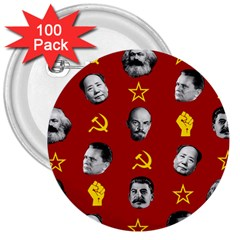Communist Leaders 3  Buttons (100 Pack)  by Valentinaart
