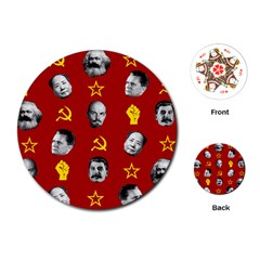 Communist Leaders Playing Cards (round)  by Valentinaart