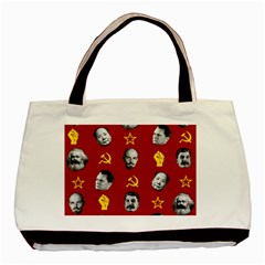 Communist Leaders Basic Tote Bag (two Sides) by Valentinaart
