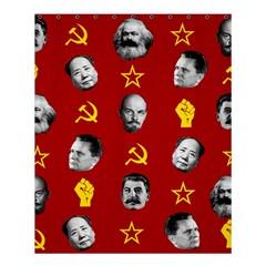 Communist Leaders Shower Curtain 60  X 72  (medium)  by Valentinaart