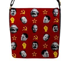 Communist Leaders Flap Messenger Bag (l)  by Valentinaart