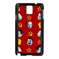 Communist Leaders Samsung Galaxy Note 3 N9005 Case (black) by Valentinaart