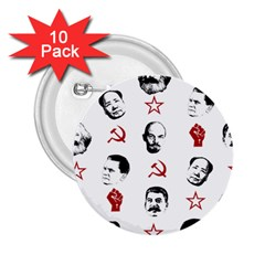 Communist Leaders 2 25  Buttons (10 Pack)  by Valentinaart