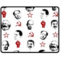 Communist Leaders Fleece Blanket (medium)  by Valentinaart