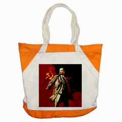 Lenin  Accent Tote Bag by Valentinaart