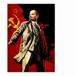 Lenin  Small Garden Flag (Two Sides) Back