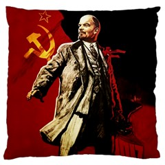 Lenin  Large Cushion Case (two Sides) by Valentinaart