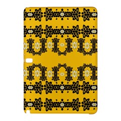 Ornate Circulate Is Festive In Flower Decorative Samsung Galaxy Tab Pro 12 2 Hardshell Case by pepitasart