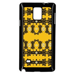 Ornate Circulate Is Festive In Flower Decorative Samsung Galaxy Note 4 Case (black) by pepitasart