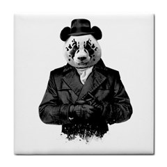 Rorschach Panda Tile Coasters by jumpercat