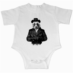 Rorschach Panda Infant Creepers by jumpercat