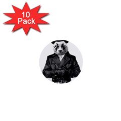 Rorschach Panda 1  Mini Buttons (10 Pack)  by jumpercat