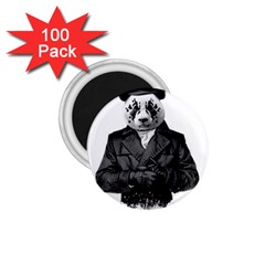 Rorschach Panda 1 75  Magnets (100 Pack)  by jumpercat