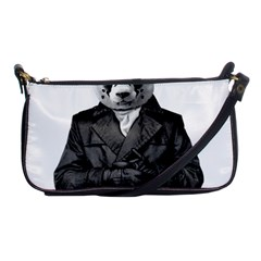 Rorschach Panda Shoulder Clutch Bags by jumpercat