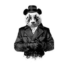 Rorschach Panda Shower Curtain 48  X 72  (small)  by jumpercat