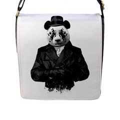 Rorschach Panda Flap Messenger Bag (l)  by jumpercat