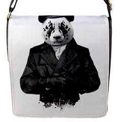 Rorschach Panda Flap Messenger Bag (s) by jumpercat