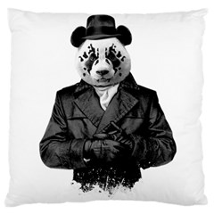 Rorschach Panda Large Flano Cushion Case (one Side) by jumpercat