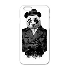 Rorschach Panda Apple Iphone 6/6s White Enamel Case by jumpercat