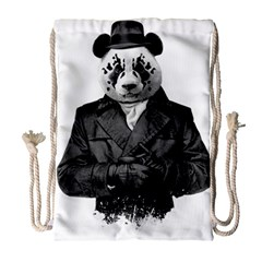 Rorschach Panda Drawstring Bag (large) by jumpercat