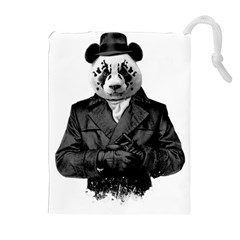 Rorschach Panda Drawstring Pouches (extra Large) by jumpercat