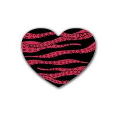 Blood Tentacles Rubber Coaster (heart)  by jumpercat