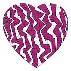 Electric Pink Polynoise Jigsaw Puzzle (heart) by jumpercat