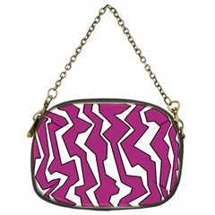 Electric Pink Polynoise Chain Purses (one Side)  by jumpercat