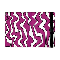 Electric Pink Polynoise Apple Ipad Mini Flip Case by jumpercat
